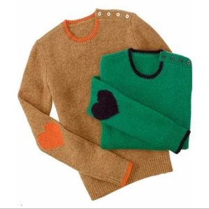 C Wonder Heart on Your Sleeve Shetland Crewneck